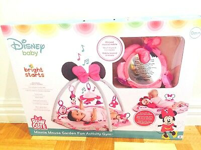 Bright Starts Minnie Mouse Garden Fun Activity Gym Brand New untouched