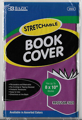 """New Bazic Stretchable 8""""x10"""" Purple Book Cover"""