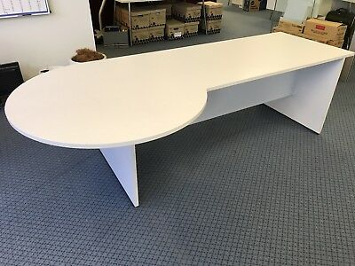 Office Desk with round return