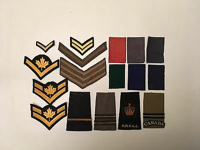 vintage canadian army stripes patches
