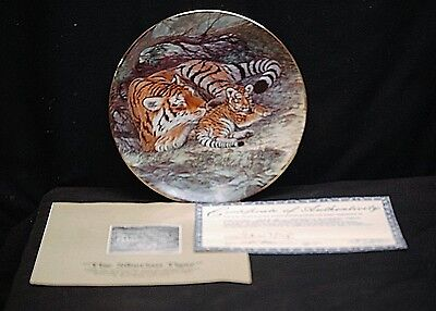 The Siberian Tiger Collector Plate 1990 The Endangered Species W.S George 1925B