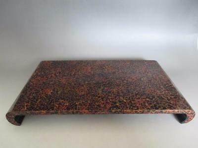 Japanese wooden lacquered flower stand/ WAKASA/ nice pattern/ 7156