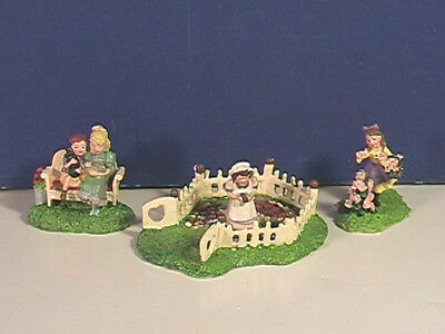 Dept 56 RELAXING IN A GARDEN Set of 3 w/box Seasons Bay Village Combine Ship!