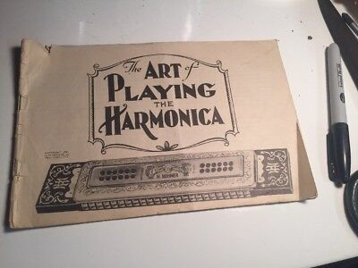 "1930's Hohner Harmonica ""The Art of Playing The Harmonica"" Catalog Booklet"