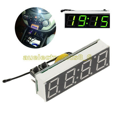 3 in 1 Green LED DS3231SN Digital Clock Temperature Voltage Module Electronic AU