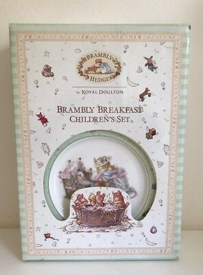 Royal Doulton Brambly Hedge 3 Piece Breakfast Children's Set BRAND NEW