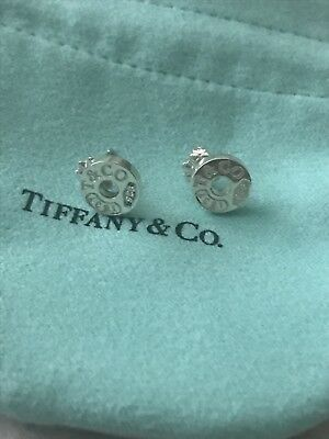 Genuine Authentic Tiffany&Co TCO 1837 Circle Silver Earrings
