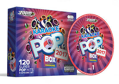 Zoom Karaoke Pop Box 2017 - 6 CD+G Set - 120 Pop Songs from the year 2017 - New!
