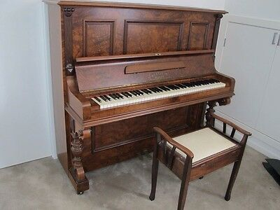 Wertheim Upright Piano and Stool