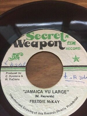"Original Ja Secret Weapon 7"" Freddy McKay"" Jamaica You Large"""