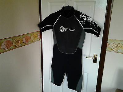Wet Suit Shorties Black/Grey/Green  By Osprey Size 36 Chest / 36 Long