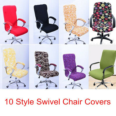 Stretch Elastic Office Computer Swivel Chair Covers Slip Covers Protector S/M/L