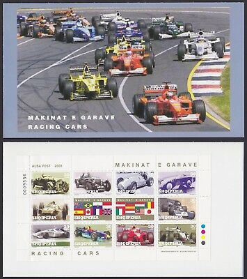 Albania 2000 Stamps Booklet RACING CARS - Mint, Complet, Stamps All MNH....A3714