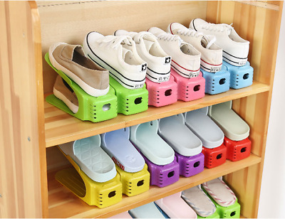 Display Rack Shoes Organizer Space-Saving Plastic Rack Storage Multi-color New