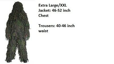 Camosystems Jackal Ghillie Suit Extra Large/xxl 3D Tactical Hunting Halloween