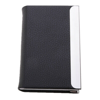 Business Card Holder Case ID Credit Wallet Pocket PU &Stainless Steel Unisex