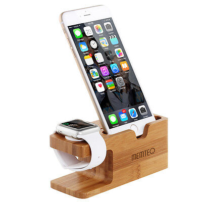 Bamboo Dock Station Charger Charging Stand Holder For Apple Watch/iWatch/iPhone7