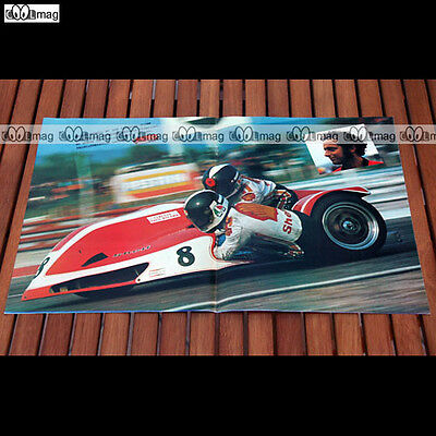 GEORGE O'DELL & CLIFF HOLLAND sur Side-Car en 1977 Poster Pilote MOTO #PM380