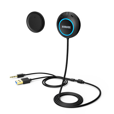 iClever Himbox HB01Min Hands-Free Car Kit for Cars with 3.5mm Aux Input Jack, Mu
