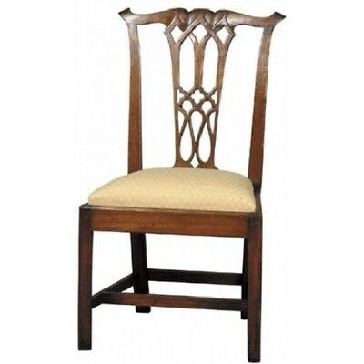 set of 8 solid mahogany chippendale dining chairs
