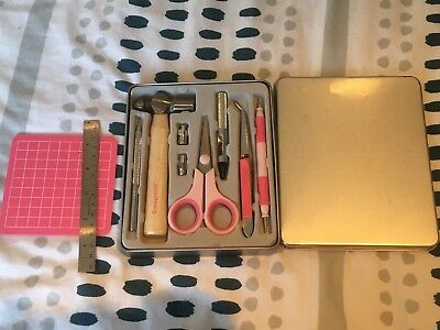 Imaginisce Tool Kit Scrapbooking Card Making in Case plus Ruler & Mat