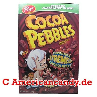 ANGEBOT: 1x 425g Post Cocoa Pebbles Cereals USA MHD 10.3.2017 (11,74€/kg)