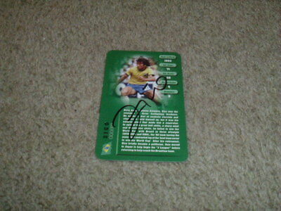 Zico - Brazil - Signed Top Trumps Football Legend Trade Card