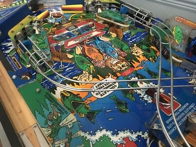 Fully Populated Original Fish Tales Playfield with loom