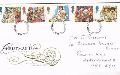 1994 Christmas - Hereford Cds Fdc From Collection K11
