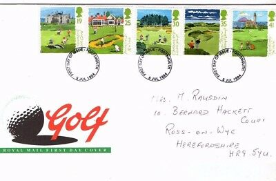 1994 Golf - Portsmouth Cds Fdc From Collection K17