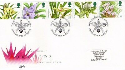1993 Orchids  - Special Botanical Garens H/s Fdc From Collection 5C/9
