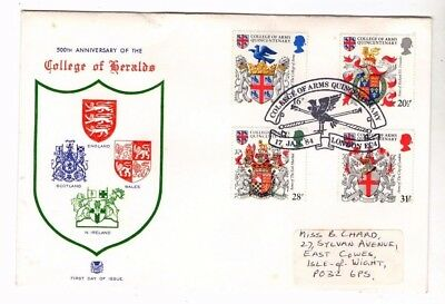 1984 College Of Heralds - College Of Arms H/s Stuart Fdc From Collection 2/4