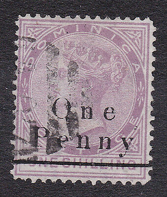 Dominica 1886 1d on 1/- magenta used