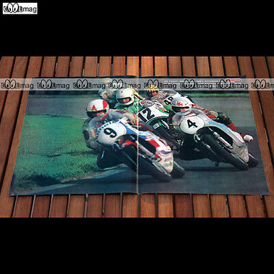 BARRY DITCHBURN, JOHN WILLIAMS, RON HASLAM.. en 1977 - Poster Pilote MOTO #PM388