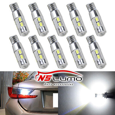5630 10smd T10 LED Light Bulb Car Backup Reverse Lamp 168 194 W5W 501 canbus