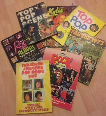 60s, 70s & 80s POP MUSIC ANNUALS LOT OF 7 - FAB, MIRABELLE, TOP POP SCENE & MORE