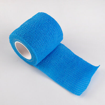 Light Blue Pet Dog Cat Puppy Non Woven Vet Wound Cohesive Bandage Wrap Tape