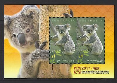 Australia 2017 Koala - China Expo Miniature Sheet  Fine Used