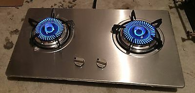 Brand new double burner stainless steel panel stove or cooktop