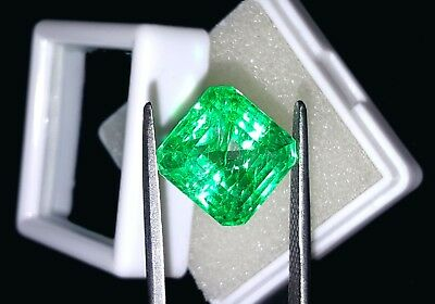 Square Shape 9.12 Ct Marvelous Natural Certificate Colombian Emerald