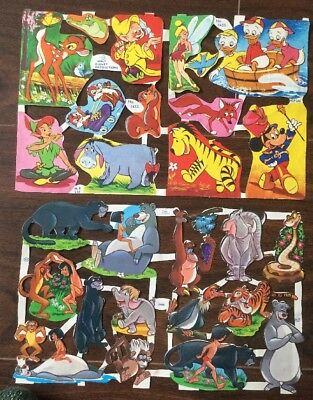 Vintage Paper Scraps Mamelok MLP 1455 / 66. Walt Disney Sheets, Jungle Book