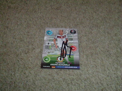 Andre Schurrle - Germany - Signed Panini Euro 2016 Trade Card