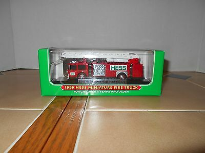 Hess 1999 Miniature Hess Fire Truck, MIB 32 in the series.