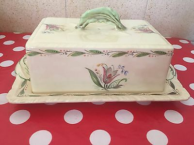 VINTAGE NEW HALL HANLEY STAFFORDSHIRE butter dish