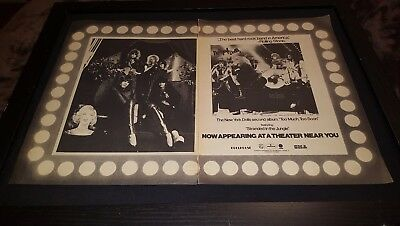 New York Dolls Too Much Too Soon Tour Rare Promo Poster Ad Framed!