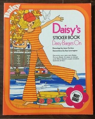 rare vintage paper dolls Daisy's sticker book daisy barges on by mary quant