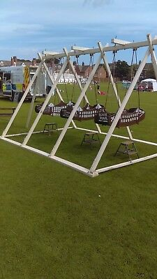 swing boats fairground ride bouncy castle add on