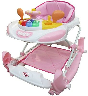 Bebe Style F1 Racing Car Walker Rocker Deluxe Pink Suitable From 6 months