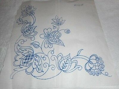 Vintage Embroidery Iron on Transfer No.20815 - Jacobean Style Flowers