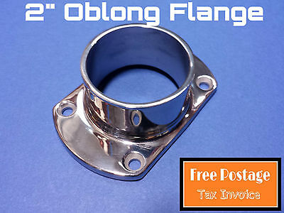 OBLONG FLANGE 316 STAINLESS STEEL CONNECTOR 50.8mm HANDRAIL FITTING BASE PLATE